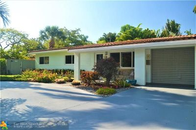 Wilton Manors Single Family Home For Sale: 222 NE 21st St