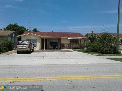Pompano Beach Single Family Home For Sale: 3810 NE 12th Ave