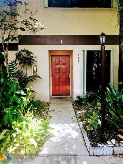 Oakland Park Condo/Townhouse For Sale: 3072 S Oakland Forest Dr #406