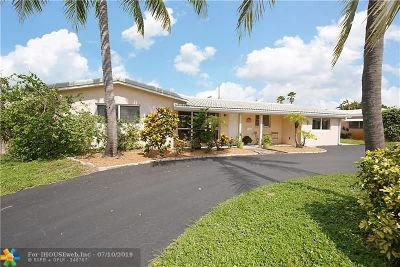 Oakland Park Single Family Home For Sale: 4341 NE 15th Ave