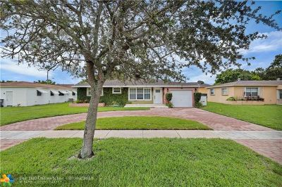 Hollywood Single Family Home For Sale: 5706 Jefferson St