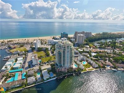 Fort Lauderdale Condo/Townhouse For Sale: 3055 Harbor Dr #901
