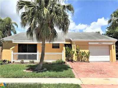 Weston Single Family Home For Sale: 541 SW 168th Ave
