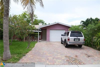 Pompano Beach Single Family Home For Sale: 3711 NE 13th Ter