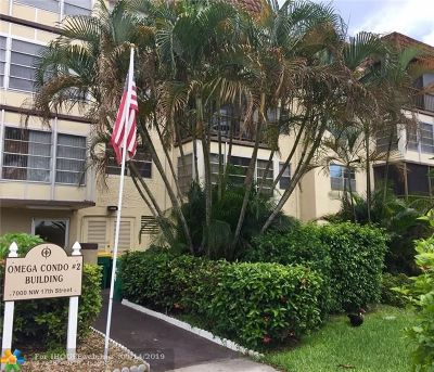 Plantation Condo/Townhouse For Sale: 7000 NW 17th St #314