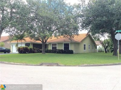 Coral Springs Single Family Home For Sale: 9605 NW 25th Ct