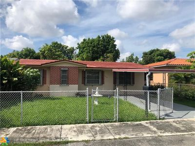 Miami Single Family Home For Sale: 7620 NW 4th St