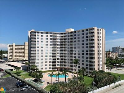 Pompano Beach Condo/Townhouse For Sale: 301 N Ocean Bl #312