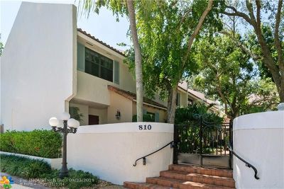 Fort Lauderdale Condo/Townhouse For Sale: 810 SE 2nd St #A
