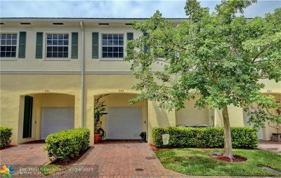 Pompano Beach Condo/Townhouse For Sale: 287 SW 7th Court