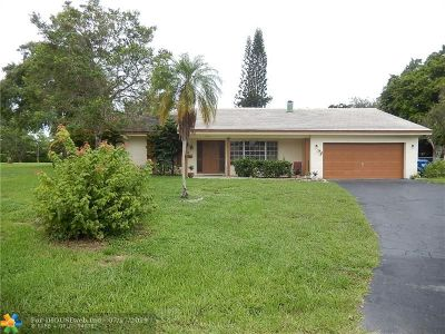 Coral Springs Single Family Home For Sale: 3742 NW 98th Ave