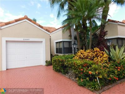 Delray Beach, Boca Raton, Boynton Beach, Palm Beach, Fort Lauderdale Condo/Townhouse For Sale: 22643 Meridiana Dr #22643