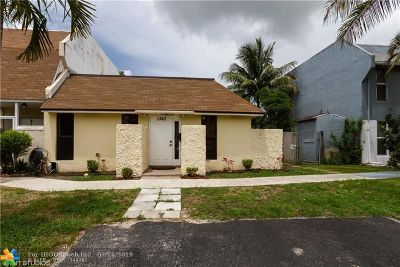 North Lauderdale Condo/Townhouse For Sale: 1343 W Seaview