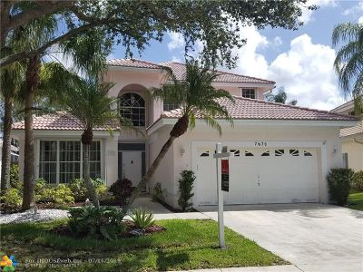Margate Single Family Home For Sale: 7670 NW 29th St