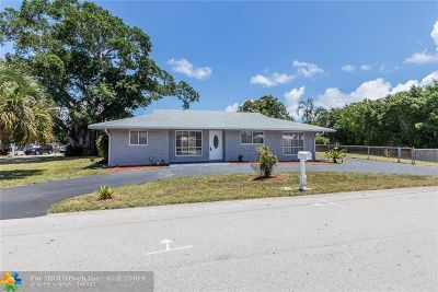 Pompano Beach FL Single Family Home For Sale: $400,000