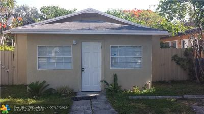 Oakland Park Single Family Home For Sale: 1399 NE 34th St