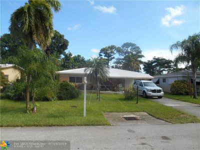 Oakland Park Single Family Home For Sale: 500 NE 49th St