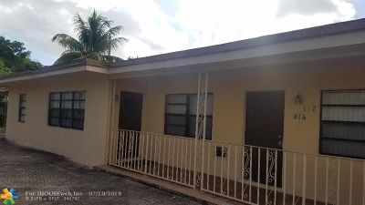 Fort Lauderdale Multi Family Home For Sale: 612 NW 16th St