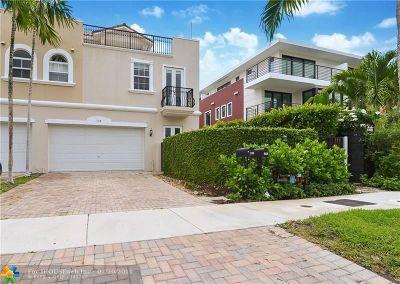 Fort Lauderdale Condo/Townhouse For Sale: 726 NE 15th Av #2