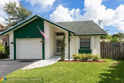 Coral Springs Single Family Home Backup Contract-Call LA: 3919 NW 72nd Ln
