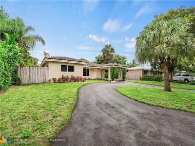 Oakland Park Single Family Home For Sale: 1320 NE 47th Ct