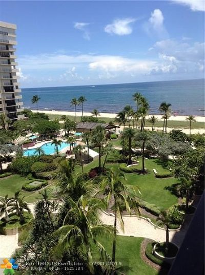 Lauderdale By The Sea Condo/Townhouse For Sale: 5000 N Ocean Blvd #706