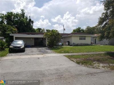 Fort Lauderdale FL Single Family Home For Sale: $260,000