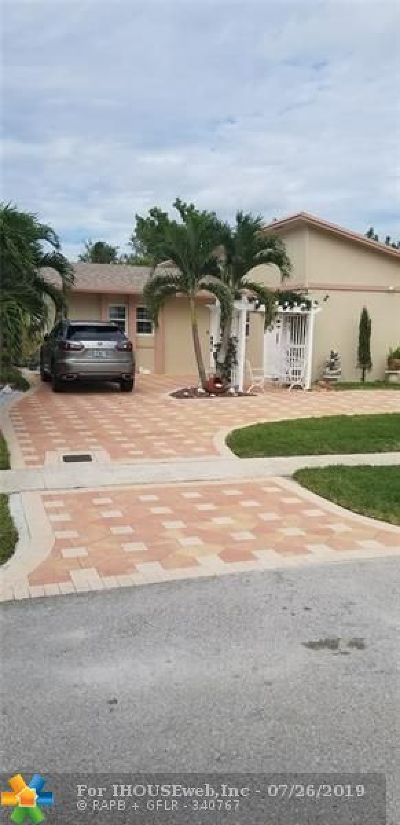 North Lauderdale Single Family Home For Sale: 8111 SW 8th Ct