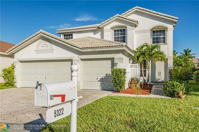 Coral Springs Single Family Home For Sale: 5322 NW 120th Ave