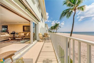 Lauderdale By The Sea Condo/Townhouse For Sale: 5400 N Ocean Blvd #54