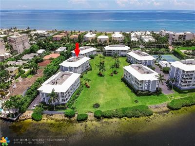 Palm Beach County Condo/Townhouse For Sale: 2150 S Ocean Boulevard #2A