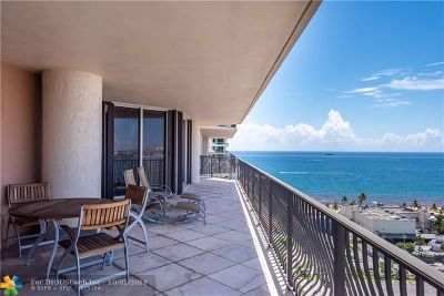 Fort Lauderdale Condo/Townhouse For Sale: 100 S Birch Rd #1804E
