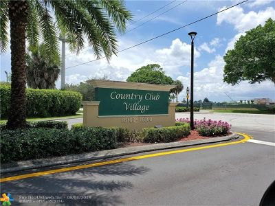 Weston Condo/Townhouse Backup Contract-Call LA: 16325 Golf Club Rd #112