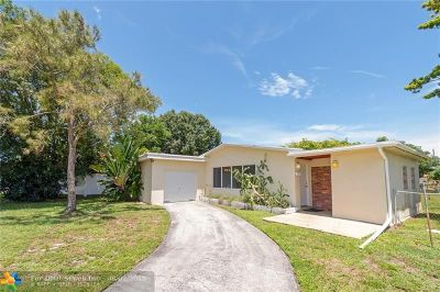 Plantation Single Family Home For Sale: 444 NW 48th Ter