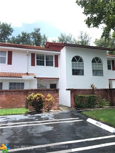 Coral Springs Condo/Townhouse For Sale: 8937 NW 23rd St #8937