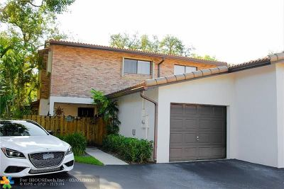 Plantation Condo/Townhouse For Sale: 12451 NW 3rd St #B1
