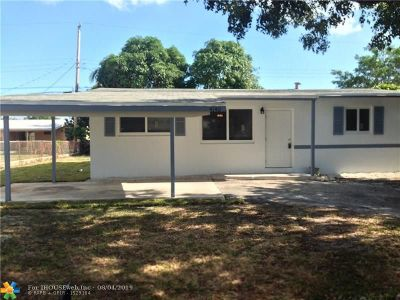 Oakland Park Single Family Home Backup Contract-Call LA: 4140 NW 12th Ave