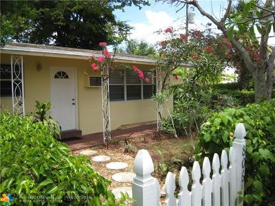 Wilton Manors Rental For Rent: 806 NE 23rd Dr #REAR
