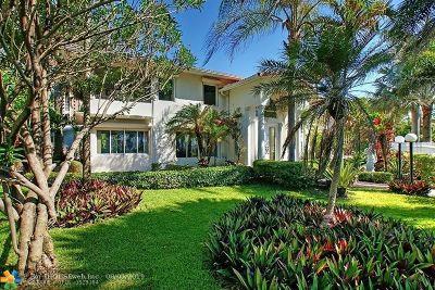 Lauderdale Beach Single Family Home For Sale: 2701 N Atlantic Blvd