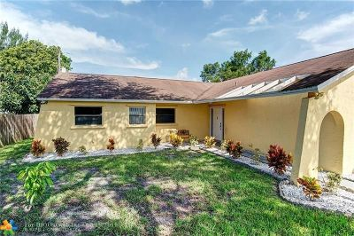 Lauderhill Single Family Home For Sale: 4921 NW 86th Ter