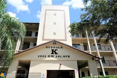 Pembroke Pines Condo/Townhouse For Sale: 1001 SW 141st Ave #312