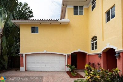 Fort Lauderdale Condo/Townhouse For Sale: 1636 NE 5th Ct #1636