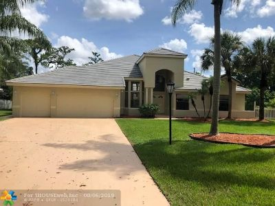 Coral Springs Single Family Home For Sale: 5182 Chardonnay Dr