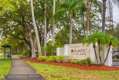 Coral Springs Condo/Townhouse Backup Contract-Call LA: 11255 W Atlantic Blvd #206