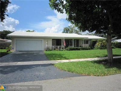 Plantation Single Family Home Backup Contract-Call LA: 7420 NW 9th St