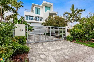 Fort Lauderdale Single Family Home For Sale: 2401 N Atlantic Blvd