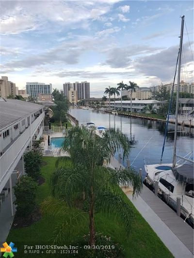 Fort Lauderdale Condo/Townhouse For Sale: 3220 Bayview Dr #315