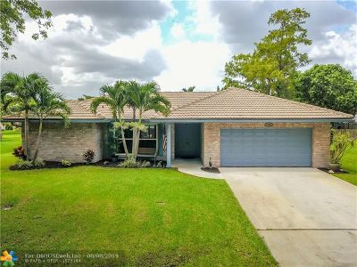 Coral Springs Single Family Home Backup Contract-Call LA: 7104 NW 39th Ct