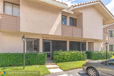 Coral Springs Condo/Townhouse For Sale: 9923 W Atlantic Blvd #9923