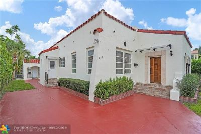 Miami Beach Single Family Home For Sale: 519 W 29th St